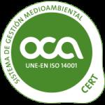 UNE-EN ISO 14001: 2008 por LRQA, certificado SGI 6025723